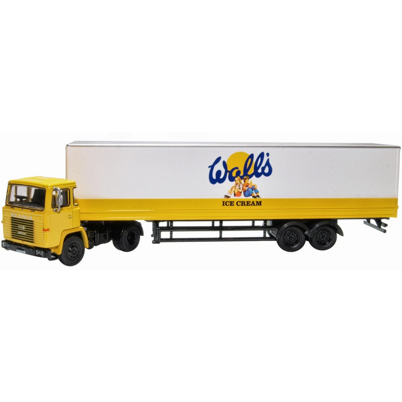 Oxford Diecast 76SC110004 Walls Ice Cream Scania 110 40ft Box Trailer