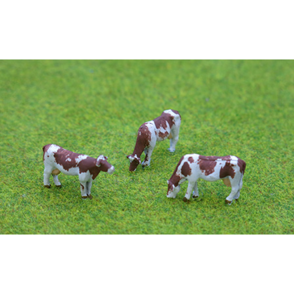 PD Marsh 3x Painted Cows (OO Gauge)