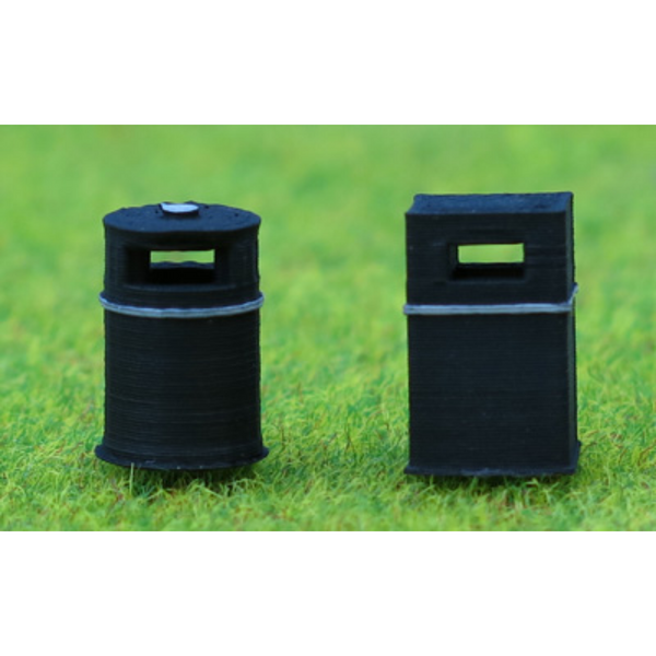 Ancorton Models Modern Litter Bins (OO Gauge)