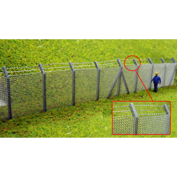 Ancorton Security Fencing with Barbed Wire Top Kit (OO Gauge)