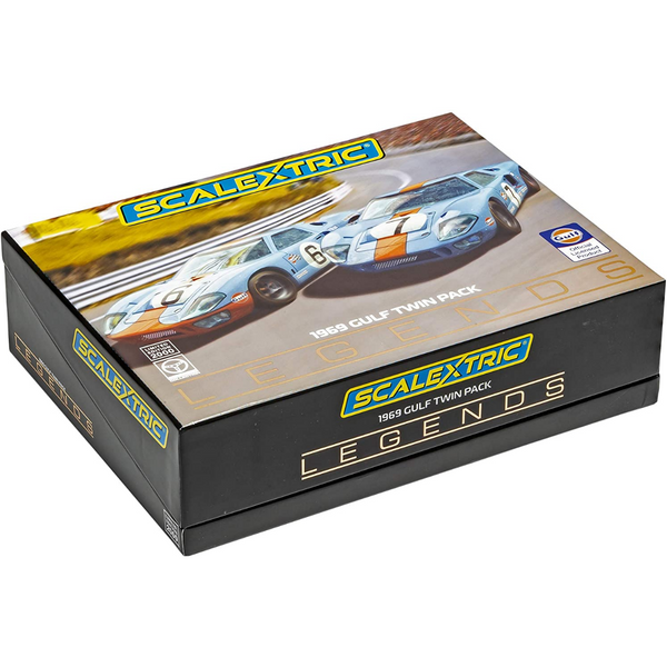 Scalextric C4041A Ford GT40 1969 Gulf Twin Pack
