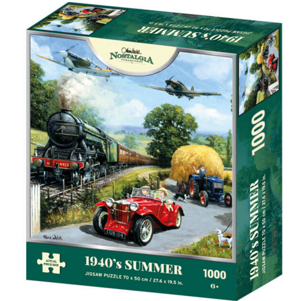 Kevin Walsh Nostalgia 1940's Summer Jigsaw Puzzle (1000 Pieces)
