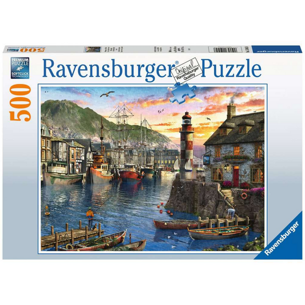 Ravensburger Sunrise at The Port Jigsaw Puzzle (500 Pieces)
