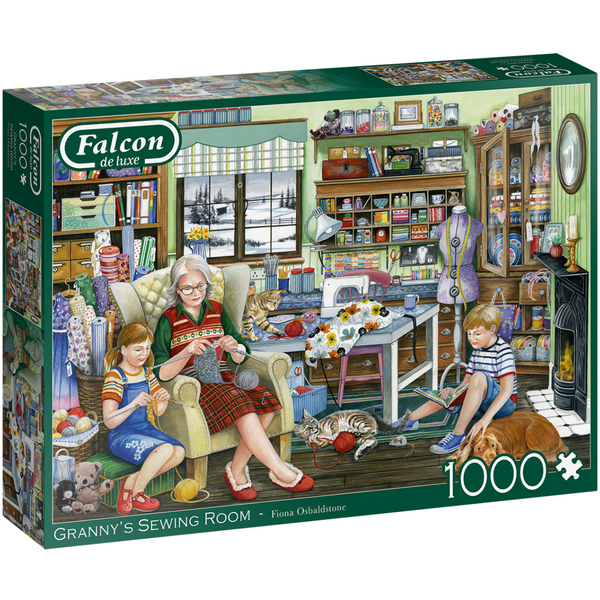 Falcon Granny's Sewing Room Jigsaw Puzzle (1000 Pieces)