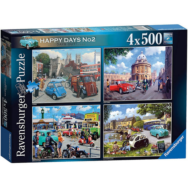 Ravensburger Happy Days No 2, Days Out Jigsaw Puzzle (4 x 500 Pieces)