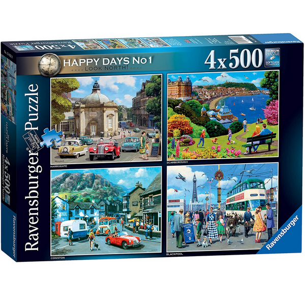 Ravensburger Happy Days No 1, Look North! Jigsaw Puzzle (4 x 500 Pieces)