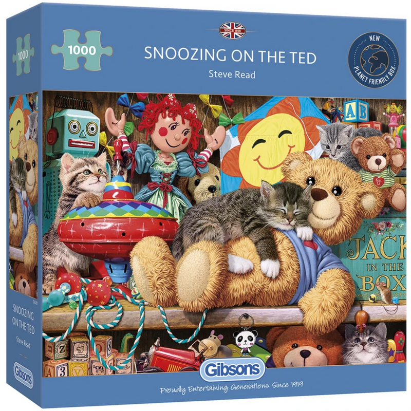 Gibsons Snoozing On The Ted Jigsaw Puzzle (1000 Pieces)