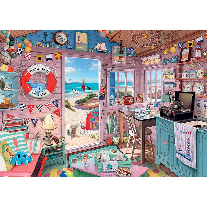 Ravensburger The Beach Hut Jigsaw Puzzle (1000 Pieces)