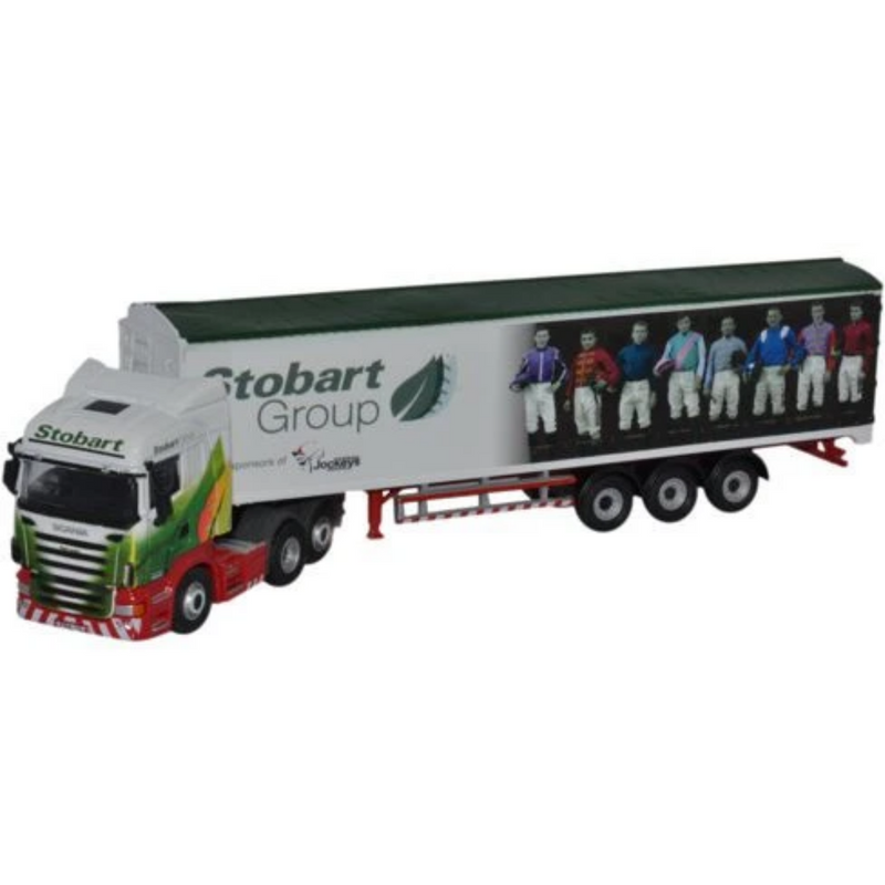 Oxford Diecast 76SHL04WF Scania Walking Floor Stobart Ascot Champions Day
