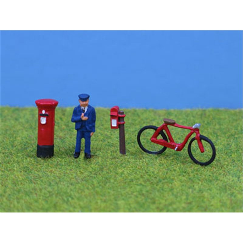 PD Marsh Postman, Bike & Postboxes (OO Gauge)