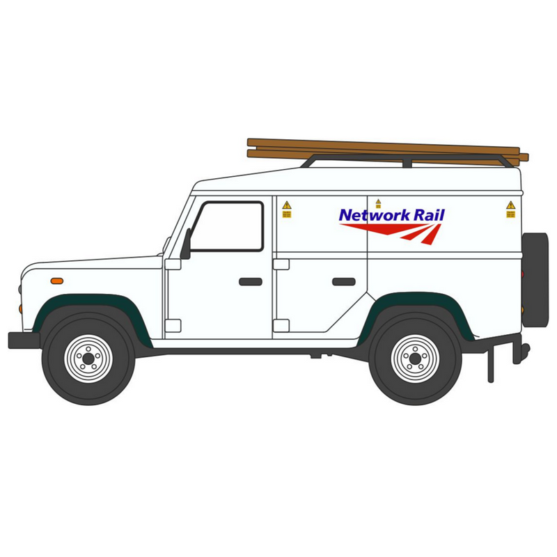 Oxford Diecast Network Rail Land Rover Defender High Top