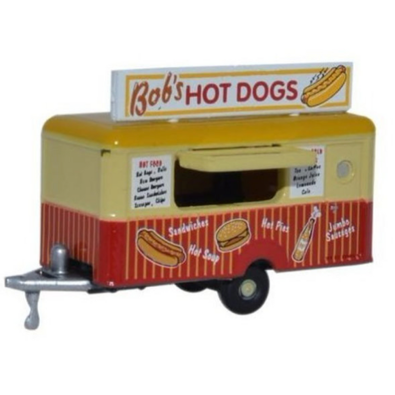 Oxford Diecast Mobile Trailer Bobs Hot Dogs