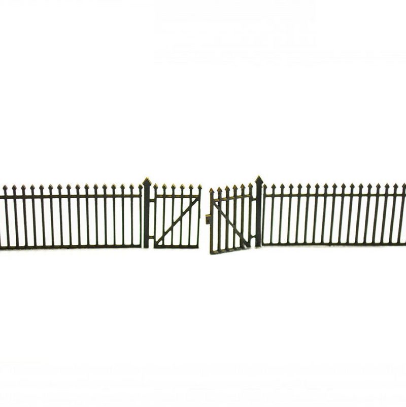 4Ground Trackside Wrought Iron Railings with Gates