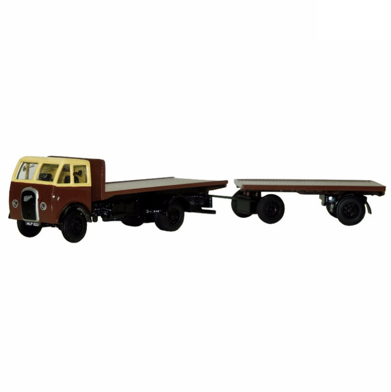 B-T Models Foden DG Flatbed & Trailer - Chocolate/Cream