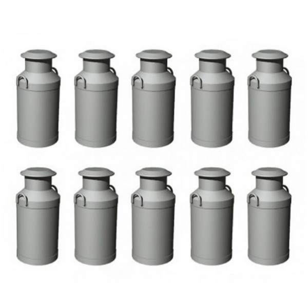 Hornby 10x Milk Churns