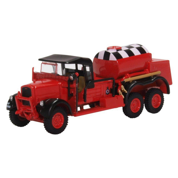 Oxford Diecast 76WOT002 Ford WOT1 Crash Tender RAF Catterick (Red)