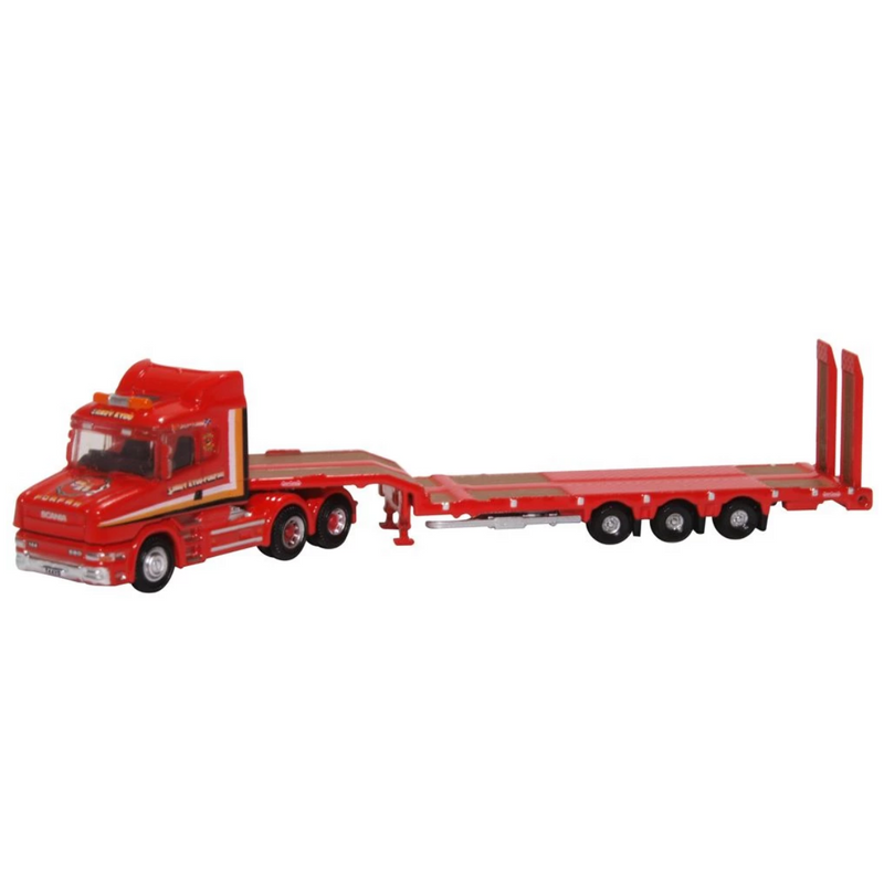 "Oxford Diecast NTCAB006 Scania T Cab Semi Low Loader ""Sandy Kydd"""