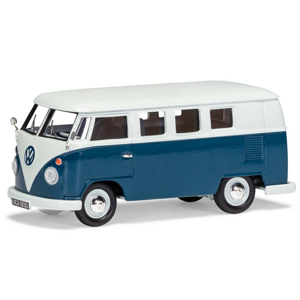 Corgi Volkswagen Type 2 Camper, Sea Blue and Cumulus White