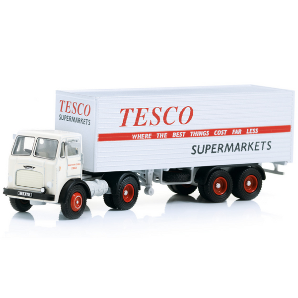 Oxford Diecast Leyland Beaver Box Trailer - Tesco