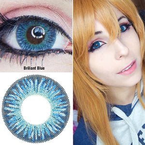 3 Tone Briliant Blue Colored Contact Lenses