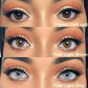 Polar Lights Grey Prescription Colored Contact Lenses
