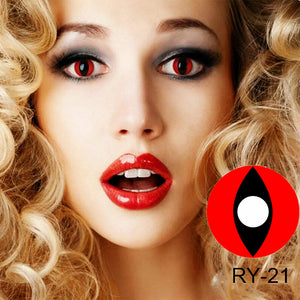 Red Cat Eye Colored Contact Lenses