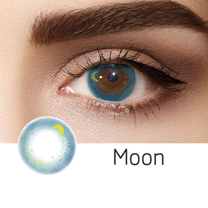 Moon Blue Colored Contact Lenses