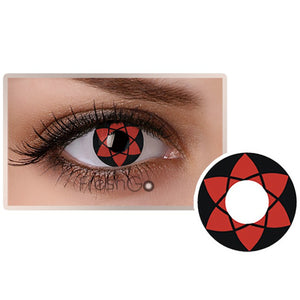 Red Sharingan Colored Contact Lenses