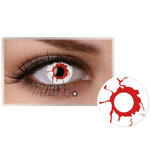 [US Warehouse] Cosplay A10 Red White Colored Contact Lenses