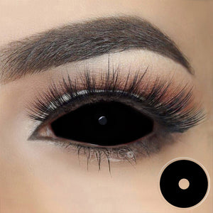 [Special Offer] Black Sclera 22mm Colored Contact Lenses
