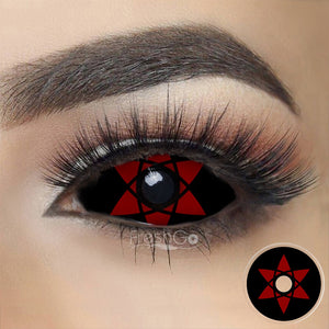 [Special Offer] Sasuke Mangekyou Sharingan Sclera 22mm Colored Contact Lenses