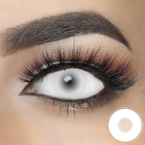 [Special Offer] White Mesh Sclera Colored Contact Lenses