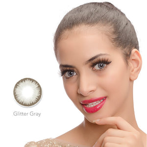 Diamond Glitter Gray Colored Contact Lenses