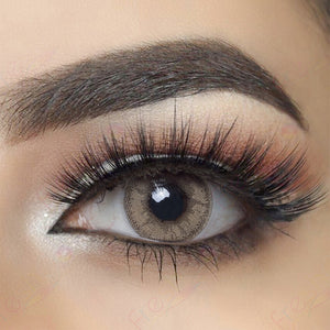 Glow Gray Caramel Colored Contact Lenses