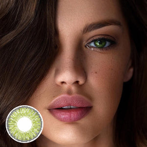 Star Gemstone Green Colored Contact Lenses