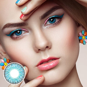Star Brilliant Blue Colored Contact Lenses