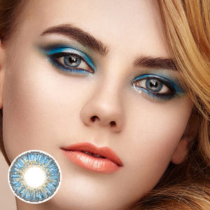 Star True Sapphire Colored Contact Lenses