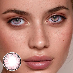 Glitter Pink Colored Contact Lenses