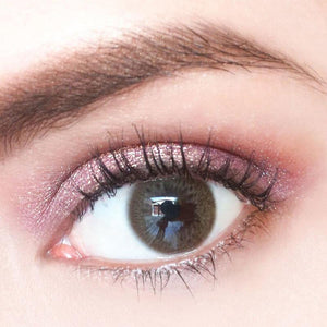 Rainbow Iris Brown Colored Contact Lenses