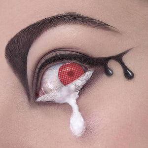 Mesh Cosplay Red Colored Contact Lenses