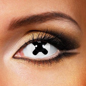 Black Cross Colored Contact Lenses
