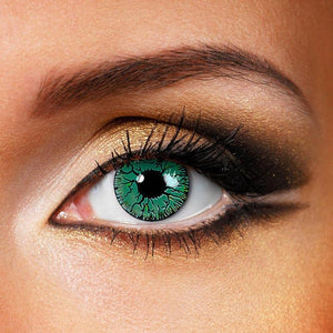 Green Crack Colored Contact Lenses