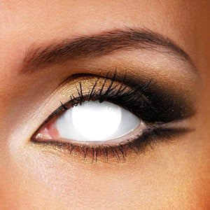 Blind White Halloween Colored Contact Lenses
