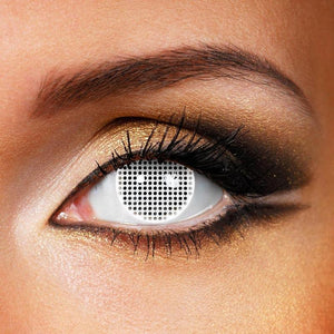 Mesh Cosplay White Colored Contact Lenses