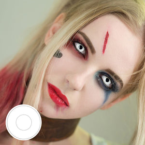 Cosplay A1 White Colored Contact Lenses