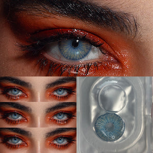 [US Warehouse] New York Blue Prescription Colored Contact Lenses