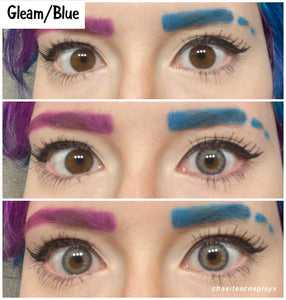 Gleam Blue Colored Contact Lenses