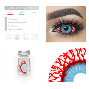 [Special Offer] Bloodshot Infected Zombie Sclera 22mm Colored Contact Lenses