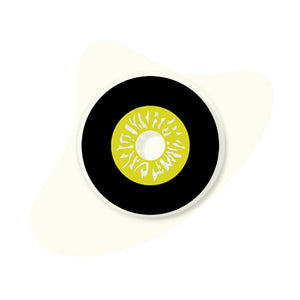 [Special Offer] Black And Yellow Sclera Colored Contact Lenses