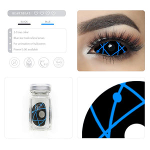[Special Offer] Blue Star Trails Sclera Colored Contact Lenses